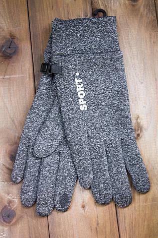 Женские перчатки черные Sport, фото 2