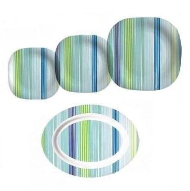 Купить Столовый сервиз 19 предметов Carine Strips Blue Luminarc E9360