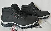 Clubshoes антискольжение new! Зимние кожаные мужские ботинки с мехом на шнурках, фото 1