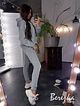 Женский стильный теплый костюм с белой полосой по ноге (в расцветках), фото 10
