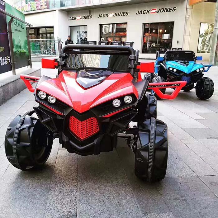 Дитячий електромобіль Джип M 3804 EBLR-3, BUGGY, Шкіряне сидіння, EVA колеса, червоний