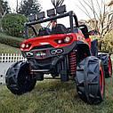 Дитячий електромобіль Джип M 3804 EBLR-3, BUGGY, Шкіряне сидіння, EVA колеса, червоний, фото 3