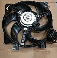 Вентилятор охлаждения радиатора Калина 1118 с кожухом и резистором (Лузар Россия)