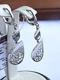 Новинка! Стильные Серебряные  серьги, фото 5