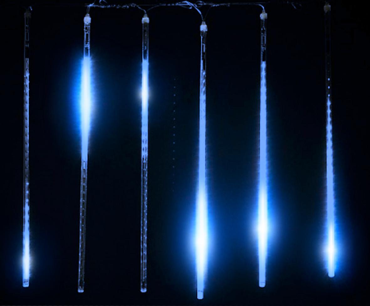 Светодиодное украшение Падающий снег Lumion 320 led 0,5 м 5 шт на проводе наружный цвет синий