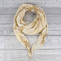 Итальянский шарф Girandola 0001-116 бежевый цветочный, коттон 80%, шелк 20%, фото 1