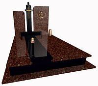 Пам'ятник надгробний гранітний на двох Елітний Е1011
