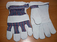 Перчатки спилок + х/б утепленные