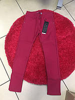 Котоновые брюки для девочки на флисе 134-158, фото 1
