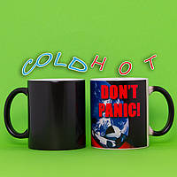 Чашка хамелеон DON'T PANIC 330мл, фото 1