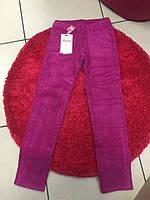 Вельветовые утепленные штаны для девочки на флисе 10-12 лет, фото 1
