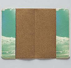 """Обложка на паспорт, """"Пей дикий воздух"""", экокожа, фото 3"""