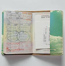 """Обложка на паспорт, """"Пей дикий воздух"""", экокожа, фото 2"""