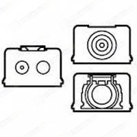 Аксессуар для накладных коробок: комплект уплотнителей для кабель-каналов, труб и кабеля Белый Legrand Galea L