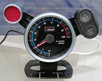 Указатель тахометр стрелочный Ket Gauge 7515 LED BL с отсечкой Ø95мм прибор датчик на автомобиль
