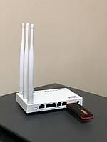 Комплект WiFi роутер + 4G LTE GSM модем (лайф, водафон, киевстар)
