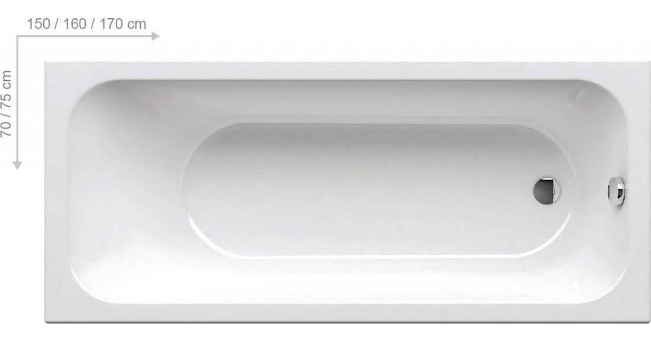 Ванная пристенная Ravak Chrome 150x70