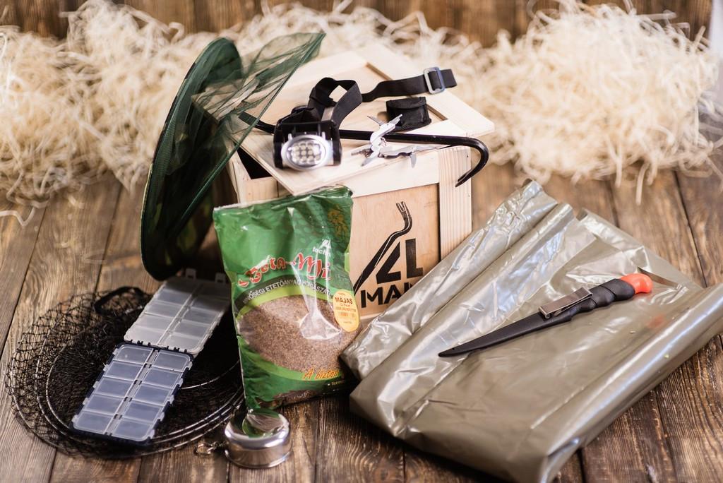 """Ящик 4MAN """"Рыбак"""". Оригинальный подарок рыбаку. Подарочный набор для рыбалки в ящике с ломом"""