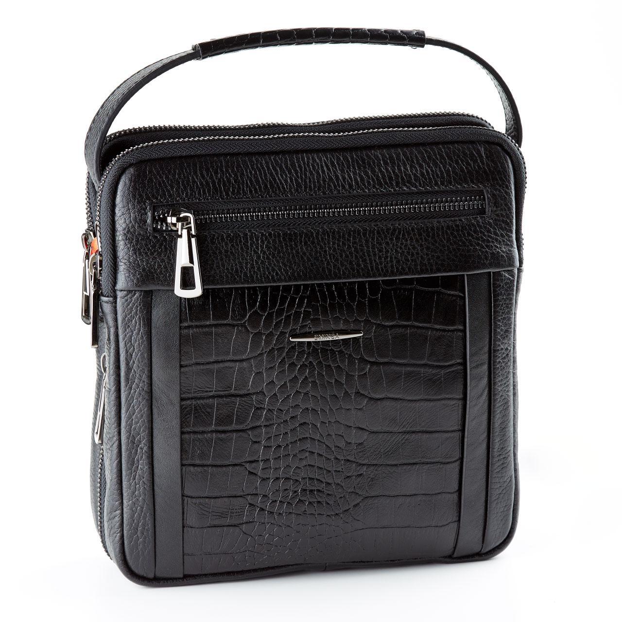 Мужская кожаная сумка черная Eminsa 6136-37-1