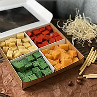 Сырная коробочка цветная, вес 500гр