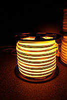 Уличный световой шнур Lumion 220V SUPER SMD NEON FLEX 8*16мм, 92 светодиода/м.п., 50м/рул цвет:желтый