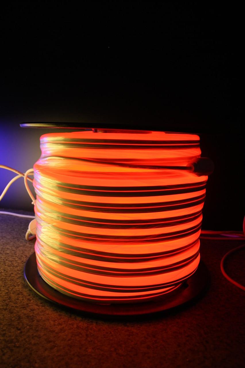 Уличный световой шнур Lumion 220V SUPER SMD NEON FLEX 8*16мм, 92 светодиода/м.п., 50м/ рул цвет красный