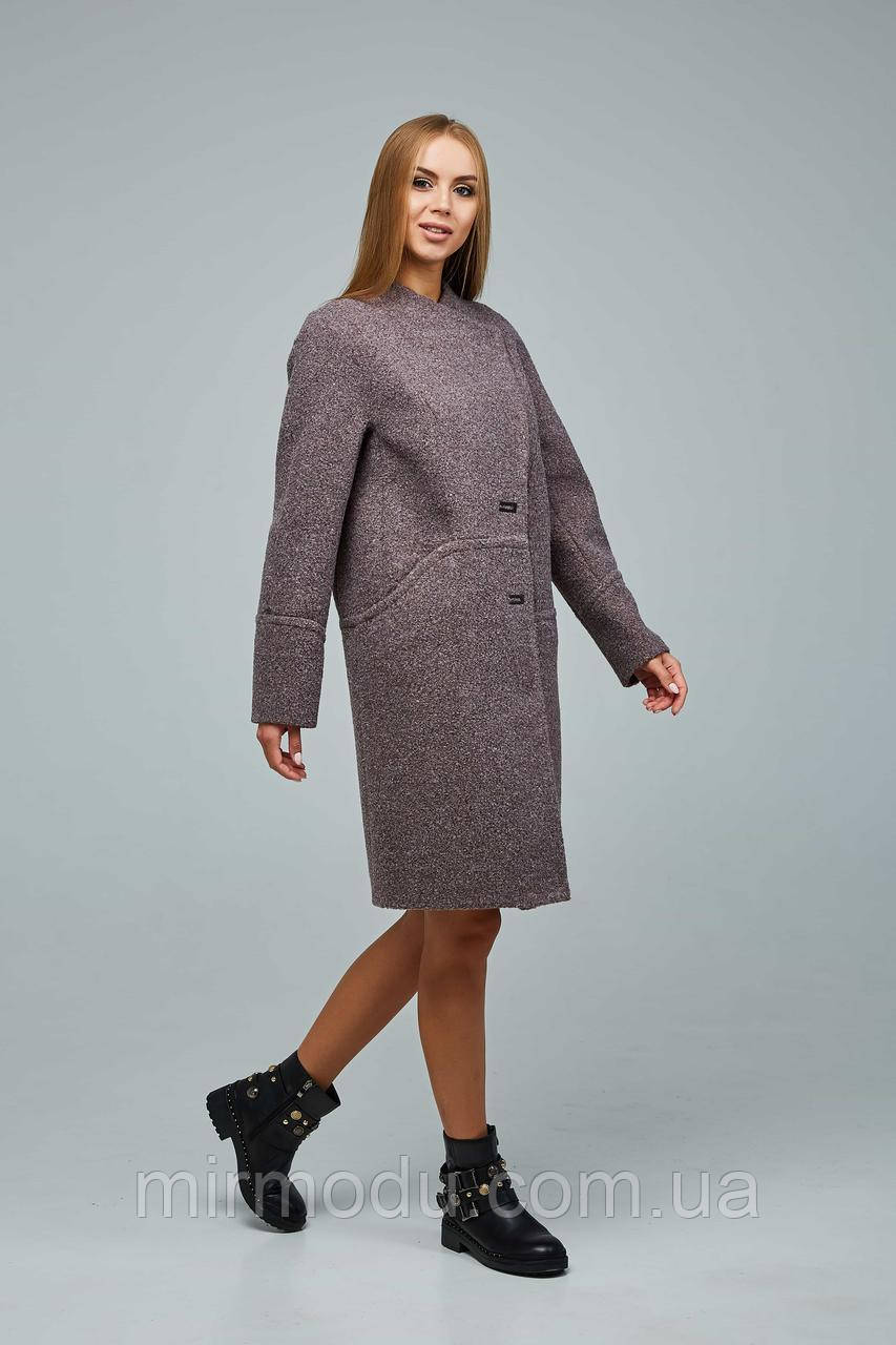 Женское демисезонное пальто В-1222 Букле 12858 Тон 3 с 44 по 54 размер (фт)