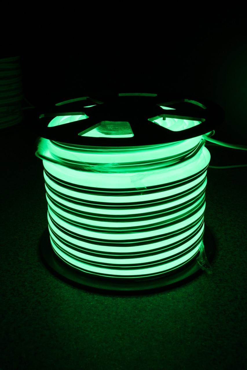 Уличный световой шнур Lumion 220V SUPER SMD NEON FLEX 8*16мм, 92 светодиода/м.п., 50м/ рул цвет зеленый