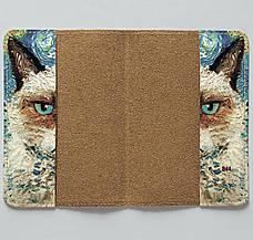 "Обкладинка на паспорт, ""Кіт Ван Гог"", екошкіра, фото 3"