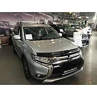 Дефлектор капота (мухобойка) Mitsubishi Outlander 2012-2020 (EGR)