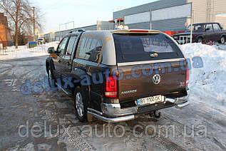 Защита заднего бампера уголкидвойные D70-42 Volkswagen Amarok Задние углы двойные для Фольксваген Амарок 2016