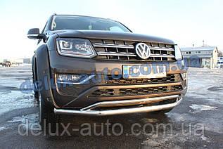 Защита переднего бампера Original Volkswagen Amarok Дуга передняя ORG нержавейка на Фольксваген Амарок 2016+