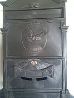 Почтовый ящик Vita цвет чёрный Герб Голубь