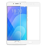 Защитное стекло для Meizu M6 Note ( Мейзу М6 Ноут Ноте ) клеится по всей поверхности белое Full Glue 2.5D