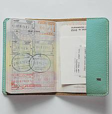 """Обложка на паспорт, """"Мопс с торчащими ушами"""", экокожа, фото 2"""