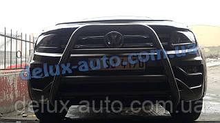 Защита переднего бампера кенгурятник высокий на Volkswagen Amarok Кенгур высокий черный на Амарок 2016-2019