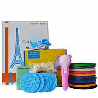 3D-ручка Dewang D8 Pink с Набором PCL Пластика 60 метров (12 цветов) и Аксессуары