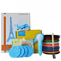 3D-ручка Dewang D8 Blue с Набором PCL Пластика 120 метров (12 цветов) и Аксессуары