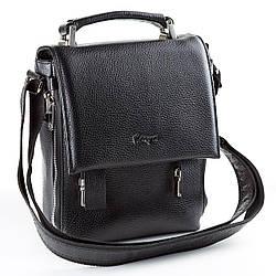 Мужская сумка Karya 0628-45 кожаная черная