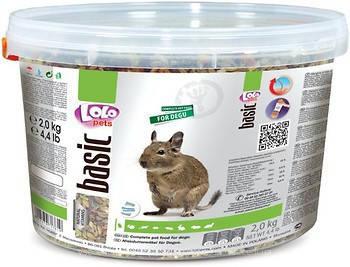 Полнорационный корм Lolopets для дегу, 2 кг