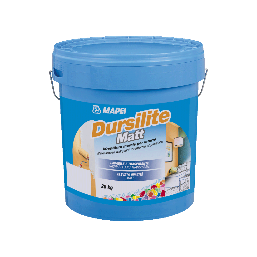 Фарба водно-дисперсійна, що миється Mapei Dursilite Matt 20 кг