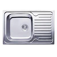 Нержавеющая мойка Platinum 7848  MicroDecor 0,8мм