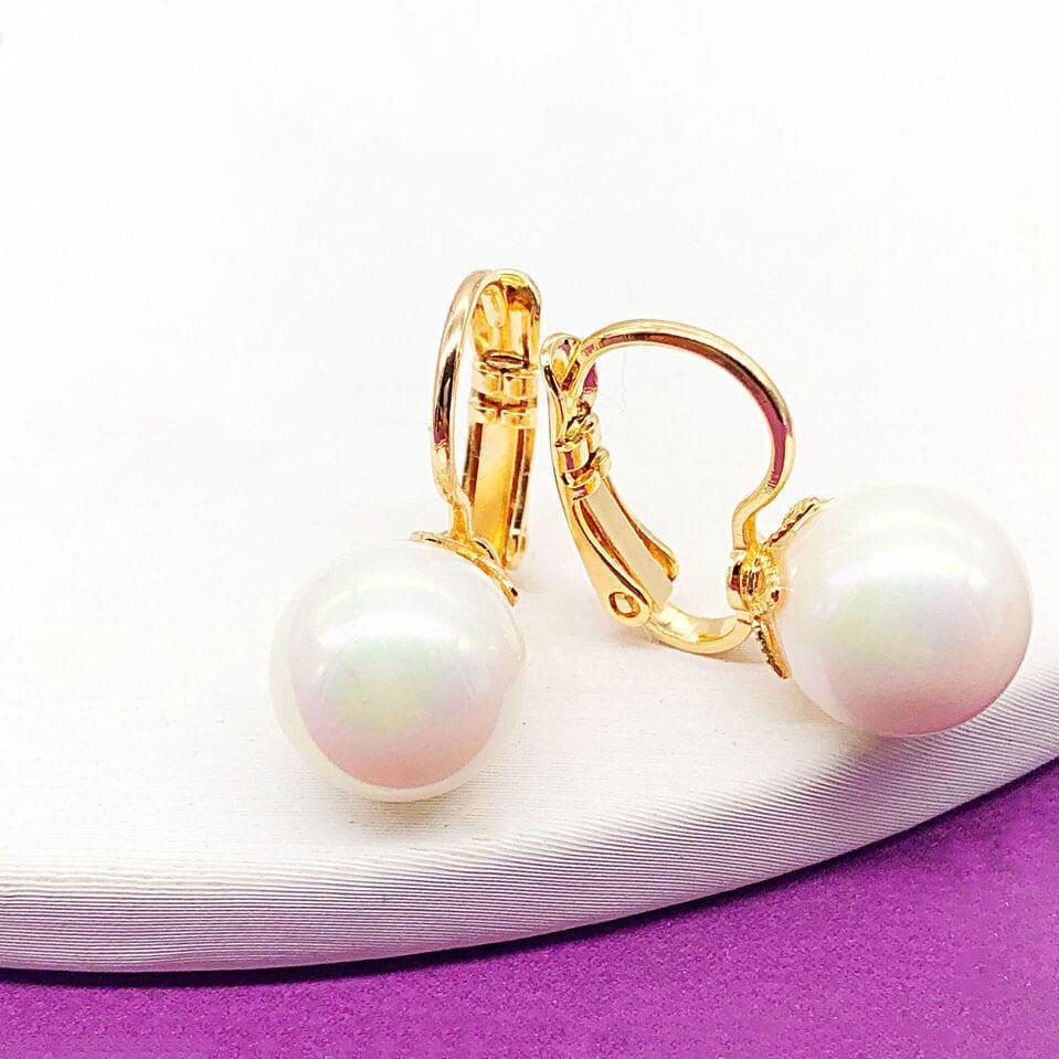 "Серьги Xuping Jewelry ""Жемчужина"" медицинское золото, позолота 18К, французский замок. А/В 4226"