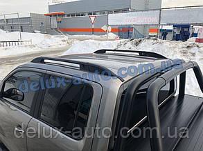 Рейлинги на крышу алюминиевые на Volkswagen Amarok 2016+ Релинги на кабину на Фольксваген Амарок 2016-2019