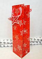 Новогодний подарочный пакет  под бутылку