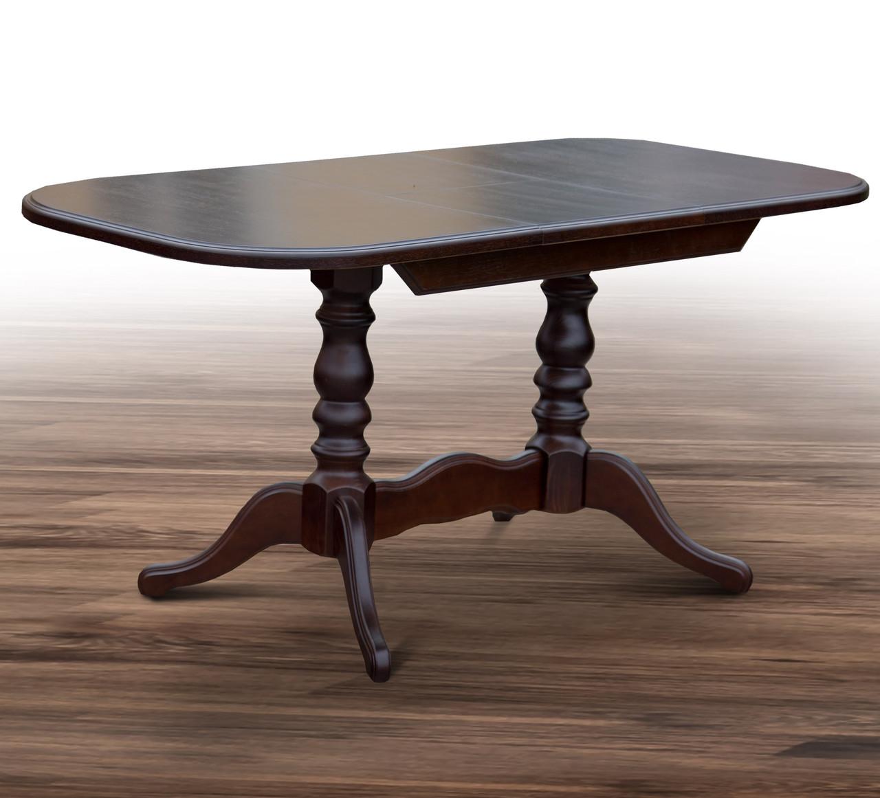Стол обеденный раскладной Шервуд 120/160*80 см орех темный ТМ МиксМебель