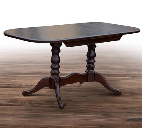 Стол обеденный раскладной Шервуд 120/160*80 см орех темный ТМ МиксМебель, фото 2