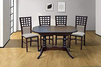 Стол обеденный раскладной Шервуд 120/160*80 см орех темный ТМ МиксМебель, фото 3