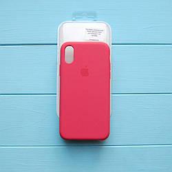 Накладка оригинальная Apple Silicone Case для iPhone X, XS Camellia