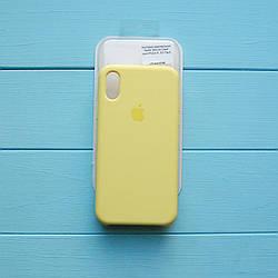 Накладка оригинальная Apple Silicone Case для iPhone X, XS Flash